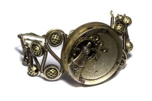 Steampunk Bracelet Relic 2 by CatherinetteRings