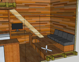 Microhome Seating Area and Desk by SgtSpaghettios