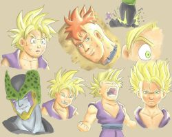 Quick Study of Gohan 2 by ktimz