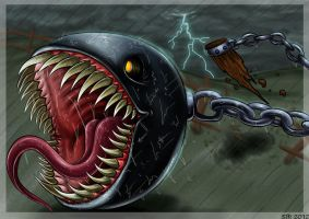 Chain Chomp by darkly-shaded-shadow