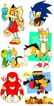 A bunch of Sonic stuff by Masterchococheese