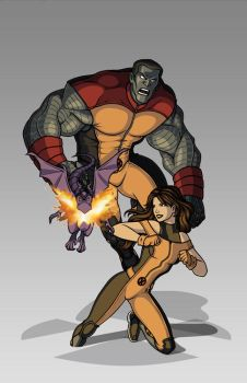 X-men Costume Redesign: Colossus and Shadowcat by Hiroki8