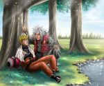 Naruto and Jiraiya by Arya-Aiedail