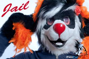 Jail [Fursuit Portrait][Wallpaper] by FotoFurNL
