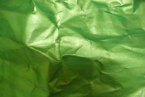 Crumpled Green Paper 6 by Niedec-STOCK