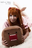 With my lovely Domo-kun by MissNoblesse