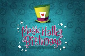 Magic Hatter Birthdays Logo by Coolgraphic