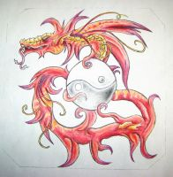 Tatto design, Red Dragon by BloodyDragon117