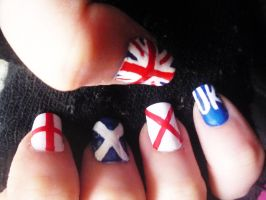 Union Jack Nails by uutopicaa
