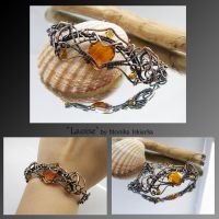 Laoise- wire wrapped copper bracelet by mea00