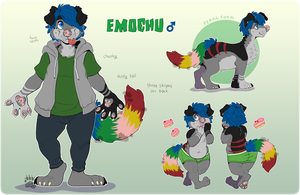 : Emochu Reference Sheet : [ART BY KAIJUPARTY !] by rotanpoikanen