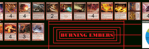 My Red Deck: Burning Embers: MTG by Redsundark