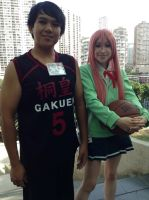 Aomine and Momoi Cosplay by TenTen143