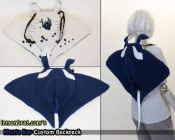 Manta Ray Custom Backpack by lemonbrat