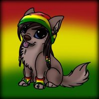 Rasta chibi dog by PirateLila