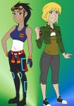 Female Rex and Noah by dreamer45