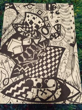 Circus Zentangle by ftsoul