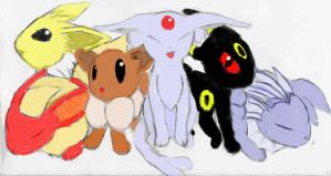 Eons that I've colored by Brownie-Bytes