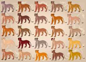25 Lioness Adopts - PayPal - OPEN by ShimiArt