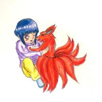 Comm_Hinata and Kurama by FireAsh1000