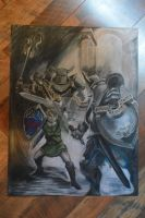 Link vs. Darknuts Colored Pencil by Ranbooby