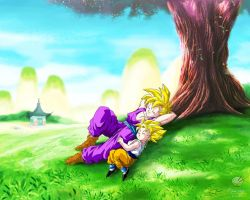 Dragon Ball - Gohan 68 (Gohan and Goten) by songohanart