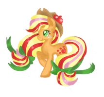 RainbowPowerApplejack by ChiuuChiuu