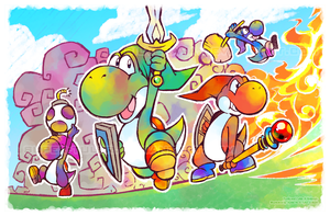 Legend of Yoshi: Four Swords by Orangetavi