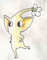 Pikmin watercolor thing by Freezair