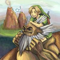 Darunia and Link by kuatas