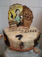 My Tomb Raider Birthday cake by Isa-Love-Anime