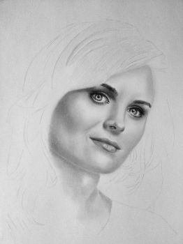 Emily Deschanel after 2 years (WIP) by Kenza-san