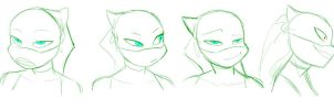 Cyrena Faces by RednBlackDevil