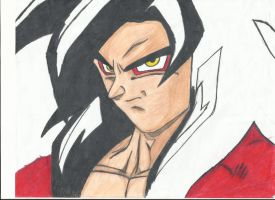 Goku Ssj4 yet again by Katt013