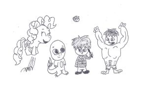 Chibi characters by uhnevermind