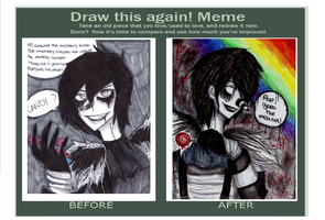 before and after meme of my laughing jack by NENEBUBBLEELOVER