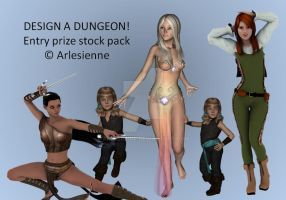 DESIGN A DUNGEON! Entry Prize by Arlesienne
