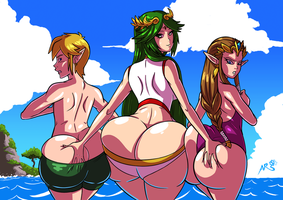 Super Smashing - Palutena Gets Grabby by Axel-Rosered