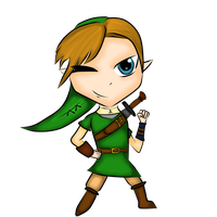 Link Chibi- coloured. by dracosgirl400
