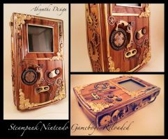 Steampunk Nintendo Gameboy : Reloaded by azazel-is-burning