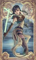 Star Wars Jedi Serra Keto Art Nouveau by Aliens-of-Star-Wars