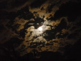 Cloudy Moon Sky by FighterOfFoos