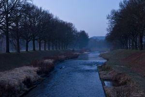 border river between Germany and Poland by LunaFeles