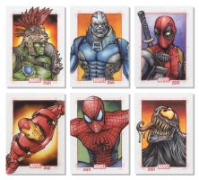 Marvel 75th Anniversary SketchCards by Erik-Maell
