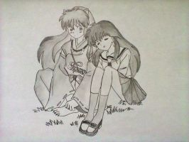 kagome and inuYasha by xinje
