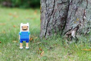 Finn from Adventure Time - Hama Bead 3D by lwordish