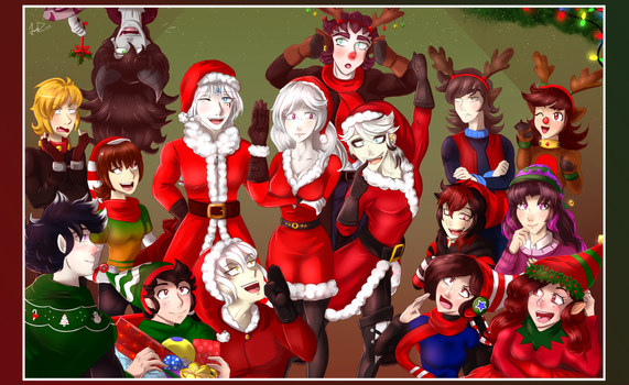 Merry christmas and happy new year by FANTASY-WORKS-JMBD