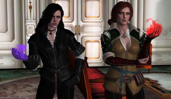 Good Mornin,Gerald!   Triss and Yennefer by zoellisrus
