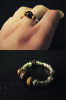 Crafted Wood Bead Ring by sampdesigns