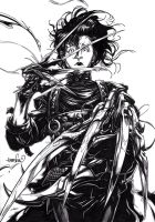 Edward Scissorhands (inks) by emmshin